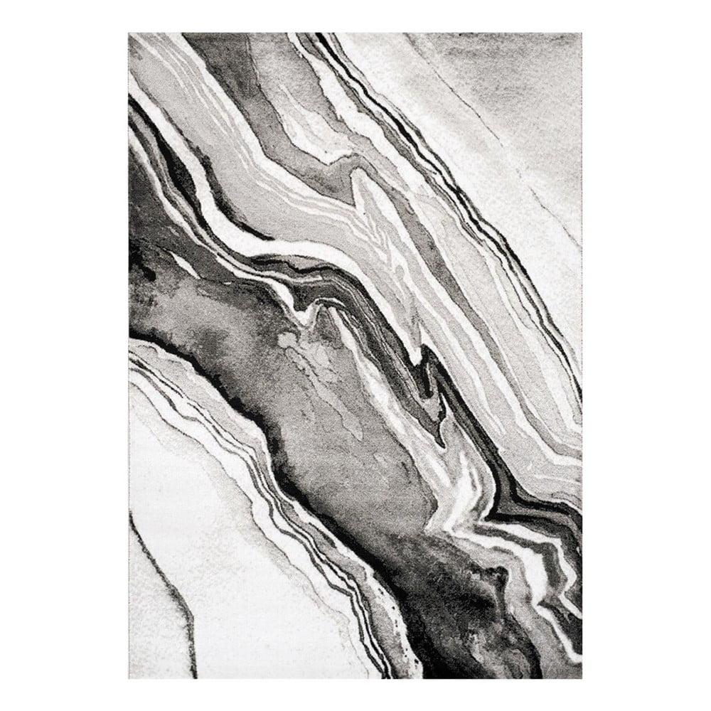 Šedo-černý koberec Webtappeti Manhattan Empire, 80 x 150 cm