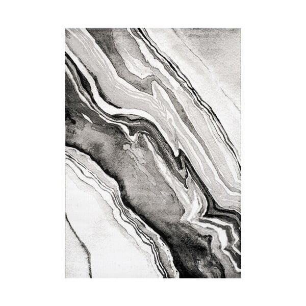 Manhattan Empire szürke-fekete szőnyeg, 80 x 150 cm - Webtappeti