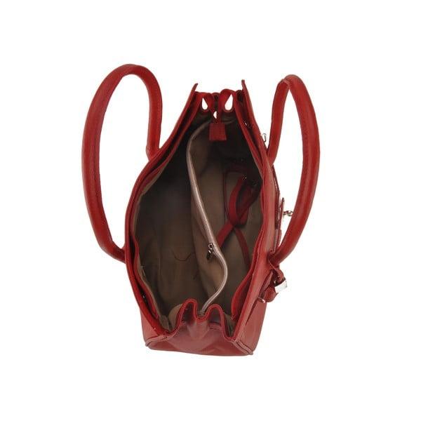 Kožená kabelka Gallina, červená