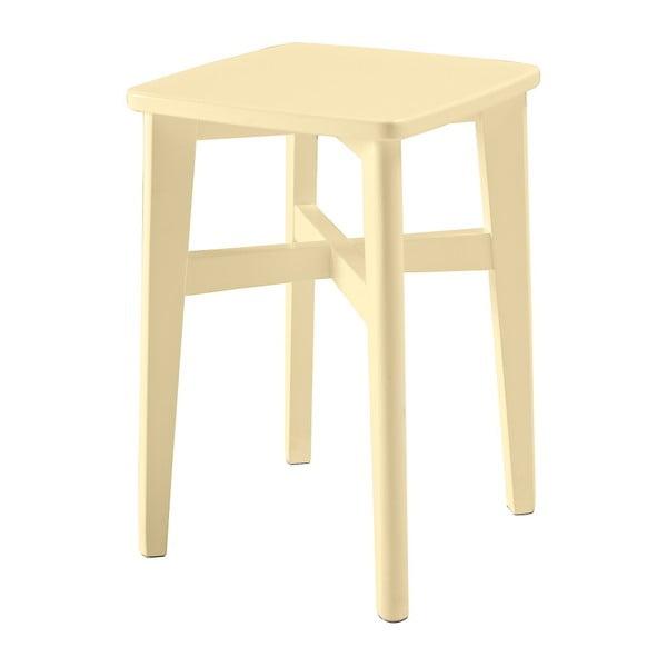 Žlutá dřevěná stolička RGE Sigrid Pall