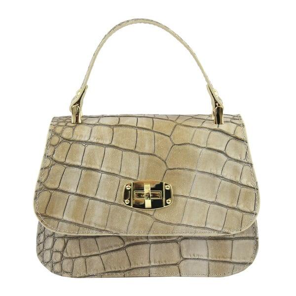 Béžová kožená kabelka Caroline