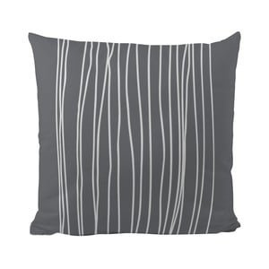 Polštář Black Shake White Stripes in Grey, 50 x 50 cm