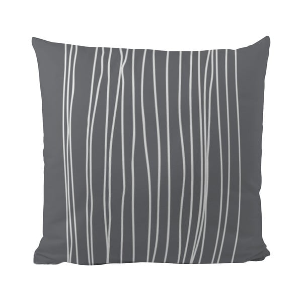 Pernă Black Shake White Stripes in Grey, 40x40 cm