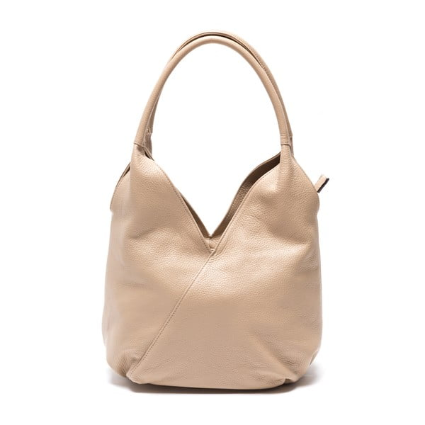 Kožená kabelka Lalia, šedohnědá