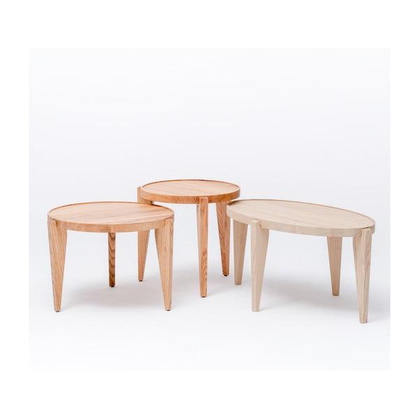 Dubový kávový stolek Bontri, 60x38 cm