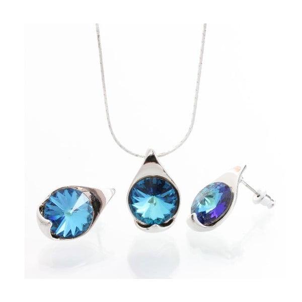 Set náhrdelníku a náušnic Laura Bruni Bermuda Blue