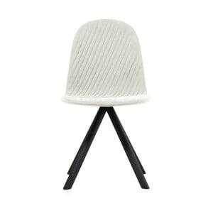 Krémová židle s černými nohami Iker Mannequin Stripe
