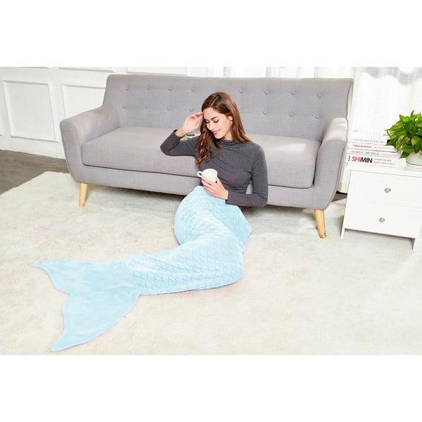 Pătură din microfibră DecoKing Siren, 190 cm, albastru