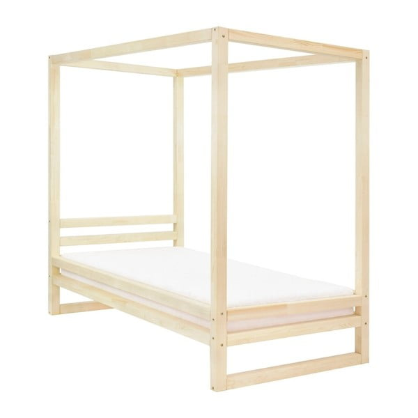 Drevená jednolôžková posteľ Benlemi Baldee Naturaleza, 200 × 90 cm