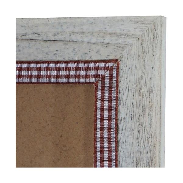 Bílý dřevěný rám na fotografie Mendler Shabby, 46x66cm
