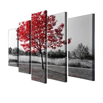 Tablou din 5 piese pe pânză Red Tree imagine