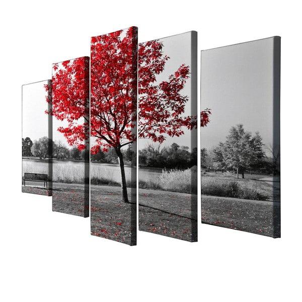 Obraz 5-częściowy na płótnie Red Tree