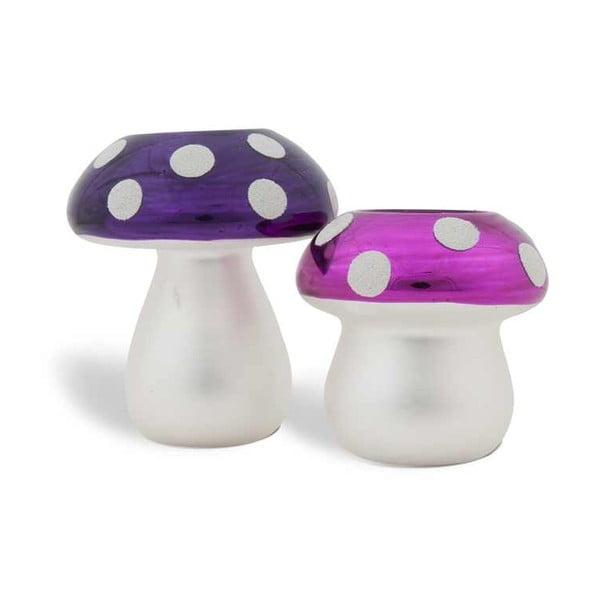 Sada 2 svícnů Mushrooms