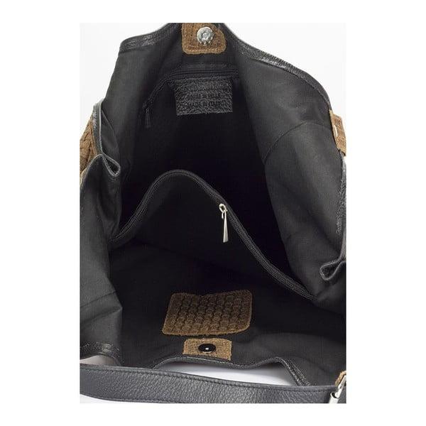 Koňakově hnědá kožená kabelka Giulia Massari Nidia