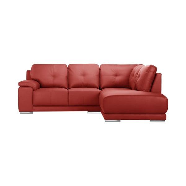 Czerwona sofa narożna Corinne Cobson Home Babyface, prawostronna