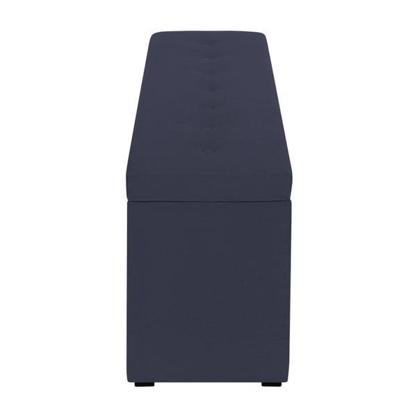 Tmavě modrý otoman s úložným prostorem Windsor & Co Sofas Astro, , 140 x 47 cm