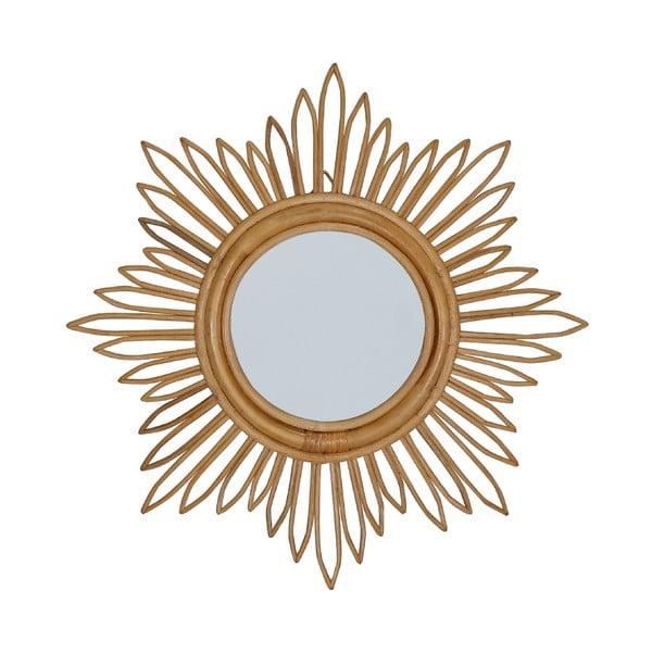 Ratanové nástenné zrkadlo WOOX LIVING Star
