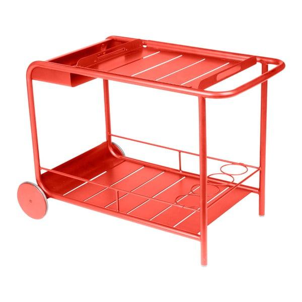 Červenooranžový servírovací stolek Fermob Luxembourg