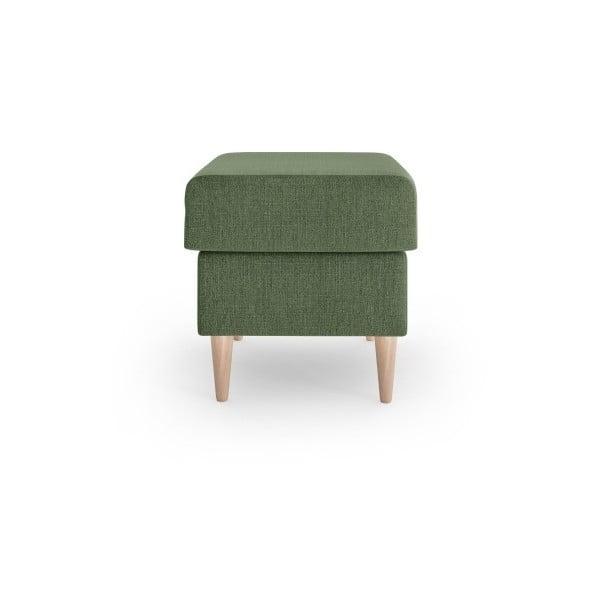 Zelený puf Mazzini Sofas Aubrieta, 60 x 45 cm