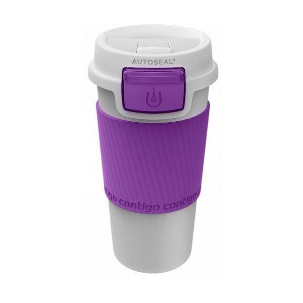 Cestovní termohrnek Morgan 360 ml, fialový