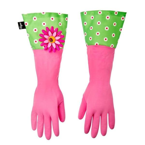Rukavice na úklid Vigar Pink Flower