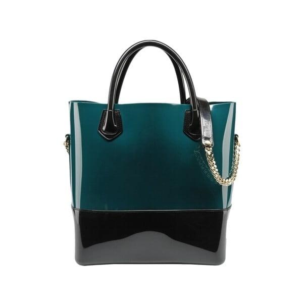 Kabelka Grace K Shopper, černá/smaragdová