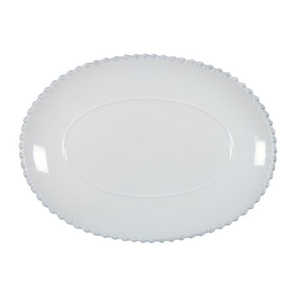 Bílý kameninový oválný tác Costa Nova Pearl, šířka 30 cm