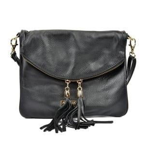 Černá kožená kabelka Anna Luchini Rohno