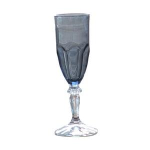 Sada 6 šedých plastových sklenic na sekt Sunvibes Happy, 120ml