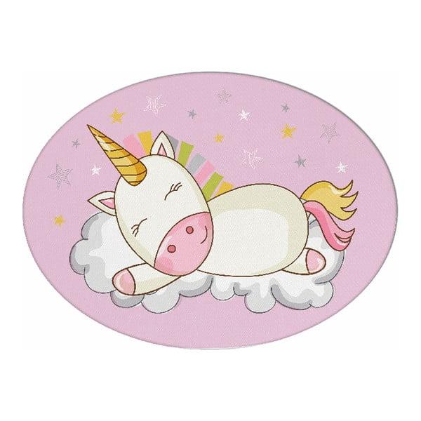 Pernă din amestec de bumbac pentru copii Apolena Pillow Toy Unicorn, 35 x 24 cm