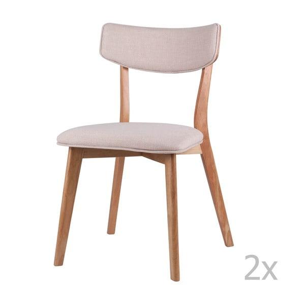 Set 2 scaune sømcasa Anais, natural-crem