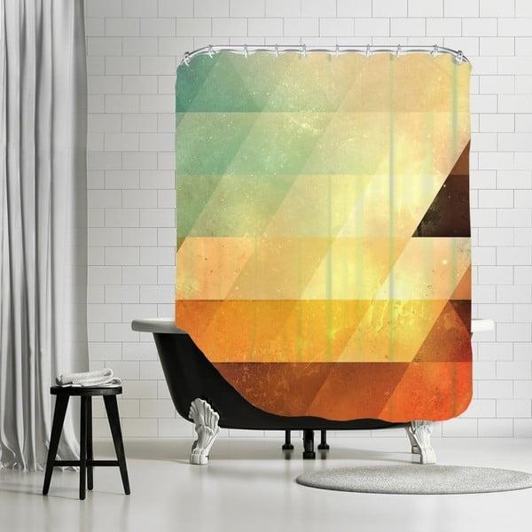 Koupelnový závěs Yellow Triangle, 180x180 cm