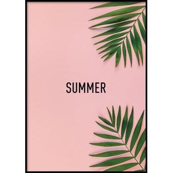 Poster cu ramă pentru perete PINK/SUMMER, 50 x 70 cm