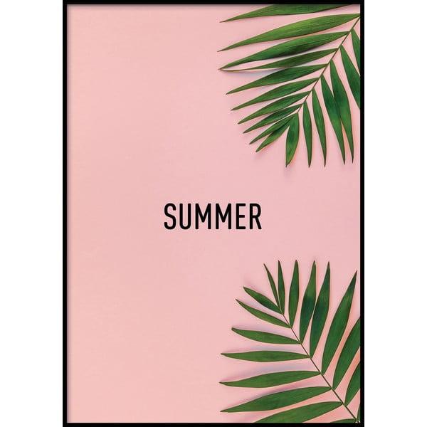 Nástěnný plakát v rámu PINK/SUMMER, 40x50cm