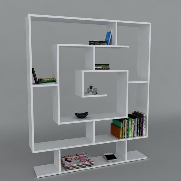 Knihovna Samasik White, 22x124,8x149,4 cm