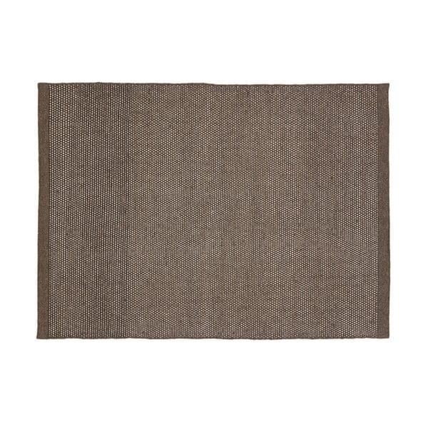 Vlněný koberec Bombay, 70x140 cm, tmavě šedý