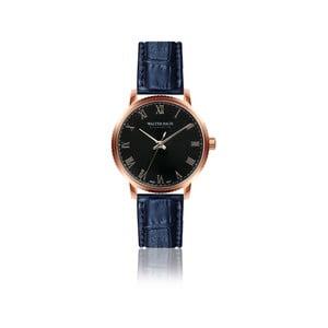 Pánské hodinky s modrým páskem z pravé kůže Walter Bach Union