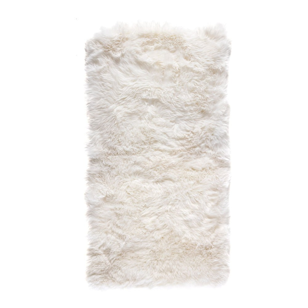 Bílý obdélníkový koberec z ovčí vlny Royal Dream Zealand