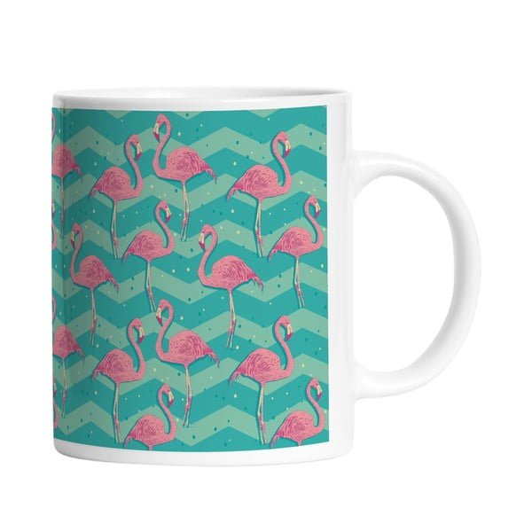 Keramický hrnek Flamingo Birds, 330 ml