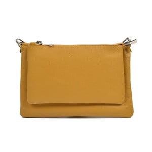 Žlutá kožená kabelka Anna Luchini Minsie