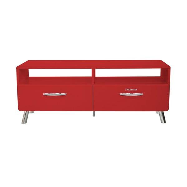 Czerwona szafka pod TV Tenzo Cobra, szer. 118 cm