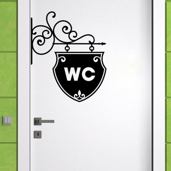 Autocolant decorativ pentru perete WC Arrow