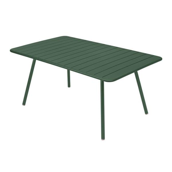 Zelený kovový jídelní stůl Fermob Luxembourg