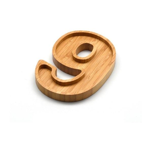 Bambusový servírovací talířek Bambum Numero Nine
