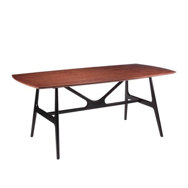 Jedálenský stôl vdekore orechového dreva sčiernymi nohami sømcasa Gabby, 180×90cm