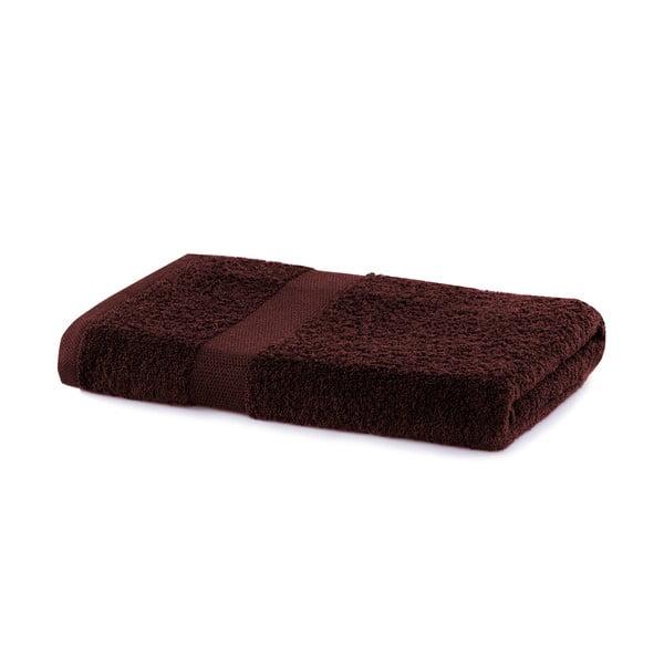Brązowy ręcznik DecoKing Marina, 70x140 cm