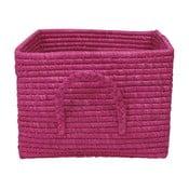 Fuchsiový košík z rýžových vláken, 35 cm