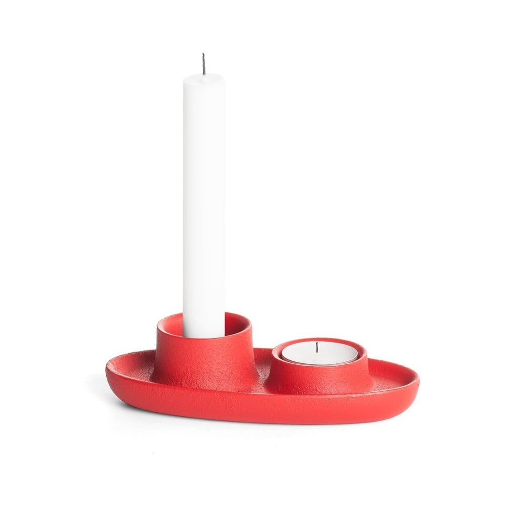 Červený svícen EMKO Aye Aye One Candle