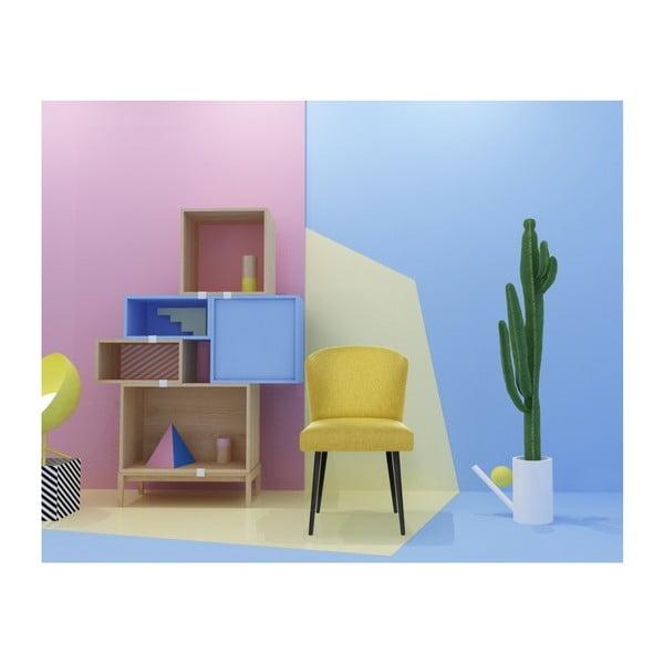 Žlutá jídelní židle s černými nohami My Pop Design Richter