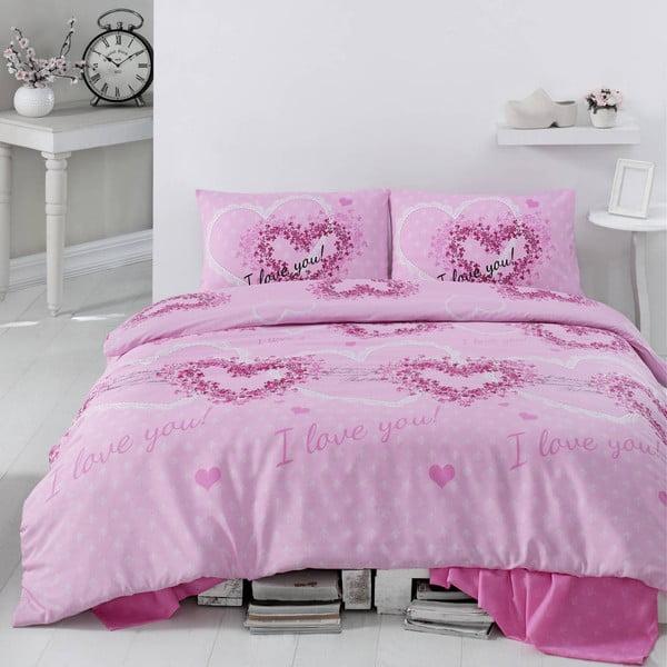Povlečení Sueno Pink, 200x220 cm